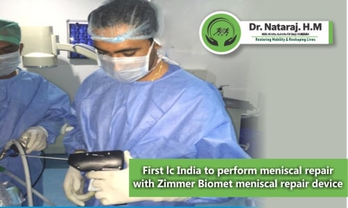 First Time in India Meniscal Repair Surgery by using Zimmer Biomet
